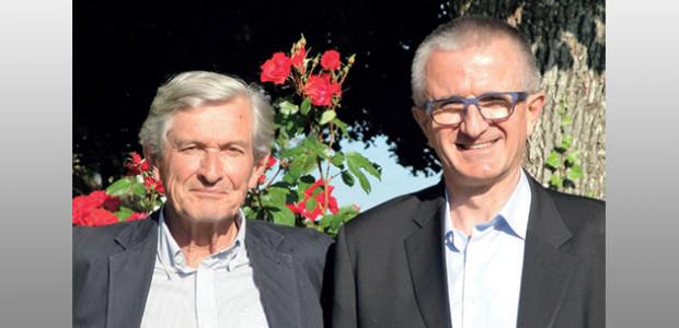 Jean-Marc de Lacoste Lareymondie et son suppléant Alexandre Vion, candidats front national (FNà aux élections législatives 2017 à La Rochelle