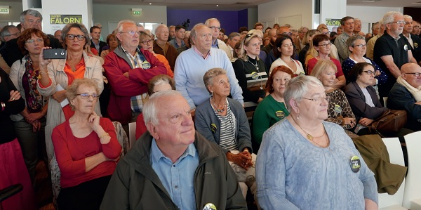 Environ 400 personnes ont assisté au lancement de la campagne d'Olivier Falorni, parmi lesquelles le maire de La Rochelle et président de la CdA, Jean-François Fountaine, qui interviendra au meeting de l'Oratoire, prévu en fin de campagne.
