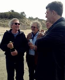 Yves Morineau et Lionel Quillet, fondateur de l'association Terre Mer Culture, parrain du bateau