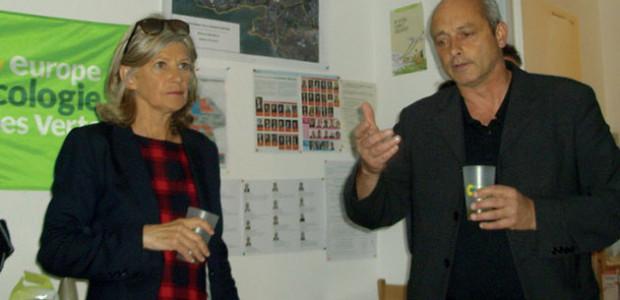 Les candidats des deux circonscriptions, Brigitte Delveaux et Jean-Marc Soubeste, font une campagne commune aux élections législatives 2017