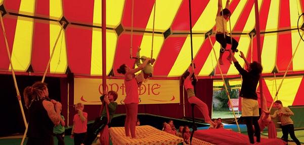 Les arts du cirque ont enthousiasmé les vingt stagiaires