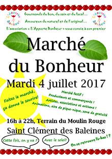 Marché du bonheur à St Clément : producteurs locaux, artistes, musique, artisans
