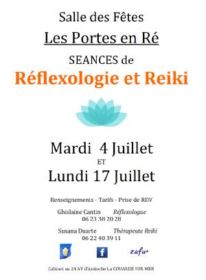 Séances de Réflexologie et de Reiki aux Portes