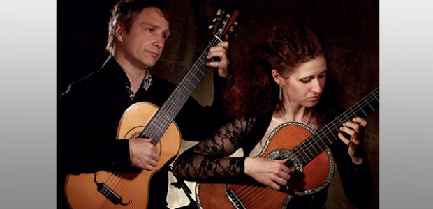 Le Duo CANTIGA: Anastasia MAXIMKINA et Philippe VILLA. Festival international de guitare de l'île de Ré, juillet 2017