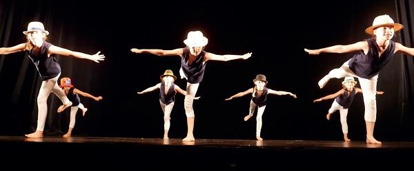 Les p'tites Chaplin ! Jeunes danseuses de Contempore danse, île de Ré