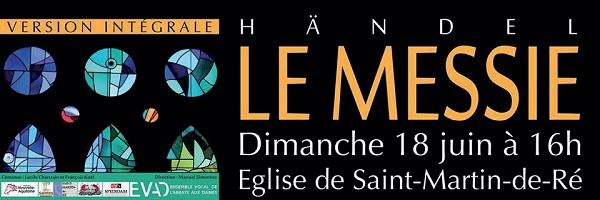 Spectacle Le Messie de Haendel )à St Martin de Ré avec la salle galerie Le Radeau de la Méduse