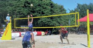 finale France-Suède championnat de beach volley au Bois Plage - Ile de Ré