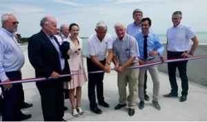 Inauguration de la digue du Boutillon (île de Ré), chantier financé par la région.