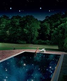 Le plongeur céleste, photographie d'Alain Longeau, expo à la galerie GFrançois Giraudeau, Les Portes en Ré