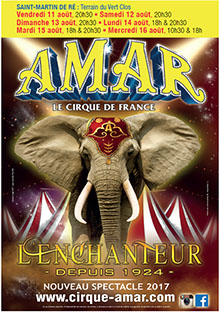 affiche cirque Amar - Ile de Ré