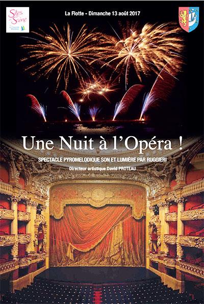 affiche de la St Laurent à la Flotte sur le thème de l'opéra - Ile de Ré