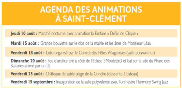 agenda des manifestations de St Clément - Ile de Ré