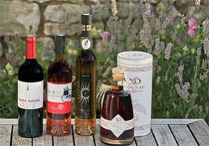 Vins et cognac issus des vignes rétaises (© Yann Werdefroy)