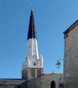 Clocher de l'église d'Ars-en-Ré © CMT17 C. TRIBALLIER