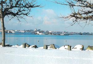 La baie de La Flotte sous la neige