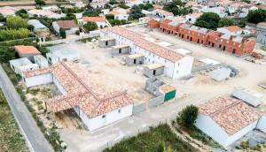 Vue aérienne du chantier en cours au Bois-Plage (© Yann Werdefroy)