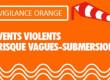 Vigilance orange pour vagues submersion