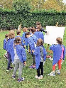 Quatre saisons au jardin pour les enfants