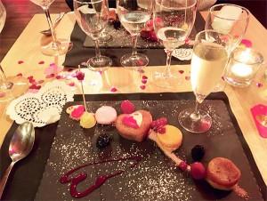 Ambiance raffinée et gourmande pour la Saint-Valentin.