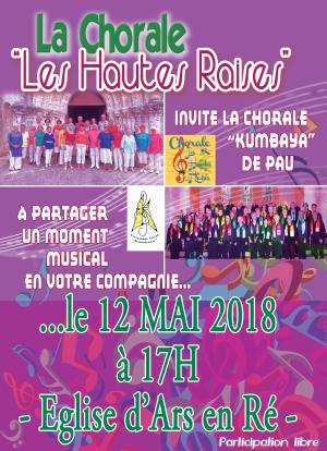 Concert le samedi 12 mai 2018
