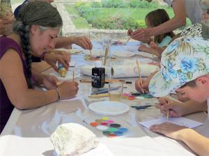 Les participants à l'Atelier Enluminure