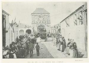Le président Sadi Carnot passant sous la porte des Campani – (Coll. Musée Ernest Cognacq – Ville de Saint-Martin-de-Ré