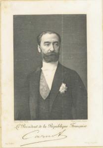 Le Président Carnot à l'île de Ré - (Coll. Musée Ernest Cognacq – Ville de Saint-Martin-de-Ré).