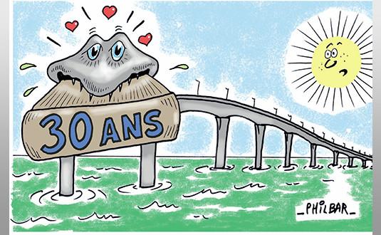 Une île, un pont, trente ans de vie commune