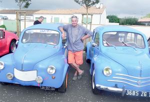 « Jeannot » s'est déplacé de Loix pour faire admirer sa magnifique « Quatre-Chevaux » datant de 1954