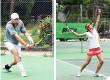 Un tournoi d'été open de tennis très fréquenté