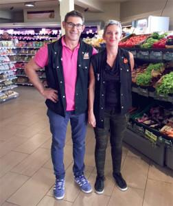Anne-Laure et Christian Teche, nouveaux gérants du Carrefour Express la Flotte