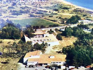 Vue aérienne, juste avant la création de la piscine en 1977