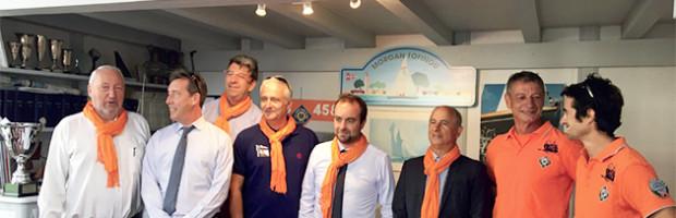 Un ministre à la mer : Sébastien Lecornu rencontre la SNSM et les élus