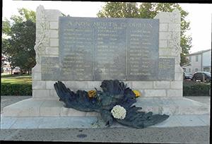 Le nouveau visage du monument aux morts.