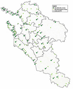 Le réseau des 130 sites ENS du Schéma
