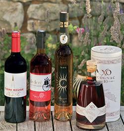 Vins et cognac issus des vignes rétaises