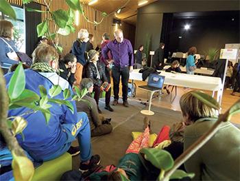 L'atelier d'expérience scientifique de Michel Le Van Quyen a été très suivi.