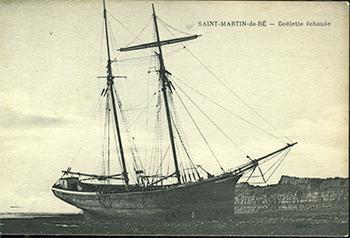 Saint-Martin de Ré – Goélette échouée.