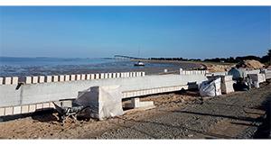 Le chantier de la digue de Rivedoux centre-bourg avance dans les temps