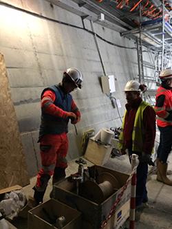 35 ouvriers présents sur ce chantiers