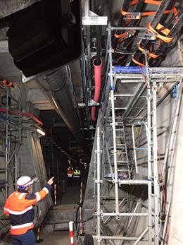 Un chantier sous-terrain difficile d'accès