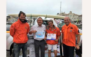 SNSM : journée en orange sur le port de Saint-Martin
