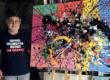 Le peintre Guy Lo Pinto nous en fait voir de toutes les couleurs…